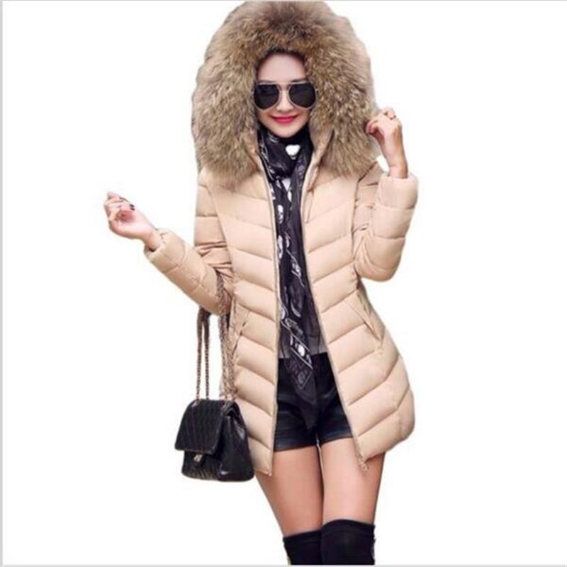 Women coat 2016 New  fashion winter thick warm fur hoody women Down jacket