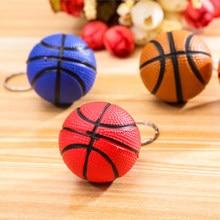 Bonito Forma de Basquete Esporte Stress Ball Link Keychain Chaveiro Moda