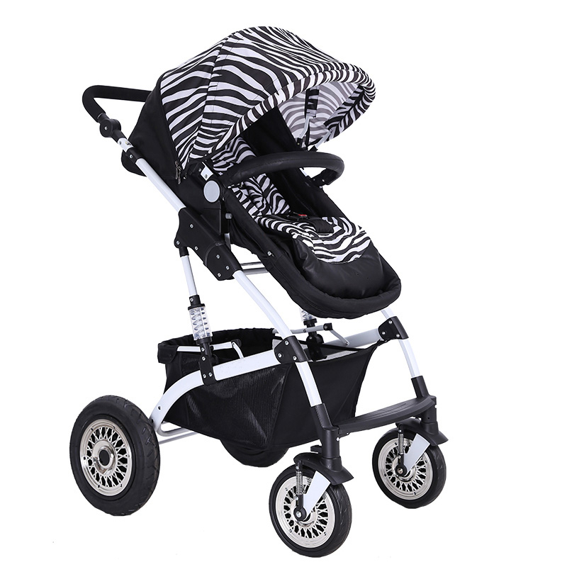 Luxury Baby Stroller Lightweight Pushchair Pram Portable Folding Baby Carriage For Newborn Sit and Lie High Landscape Baby Car avoid the ultraviolet radiation with the canopy pushchair baby build a safe soft environment for babies boys and girls pushchair