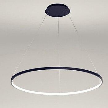 80 cm anillo único moderno LED lámparas colgantes para comedor sala de  estar lámpara colgante hogar iluminación interior Lustre luminaria