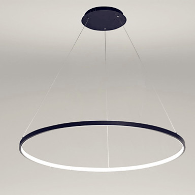80cm Single Ring Modern LED Pendant Lights Fixtures For Dinning Living Room Hanging Lamp Home Indoor Lighting Lustre Luminaire iwhd led pendant light modern creative glass bedroom hanging lamp dining room suspension luminaire home lighting fixtures lustre