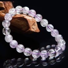 цена Newly Natural Purple Kunzite Cat Eye Round Beads Bracelet Gemstone Crystal 9mm Women Men Stone Rarest Bracelet Jewelry AAAAA онлайн в 2017 году