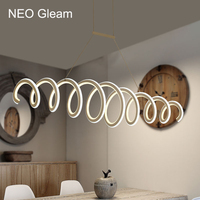 NEO Gleam Aluminum White High Brightness Double Glow Modern Led Chandeliers For Dining Kitchen Room Home