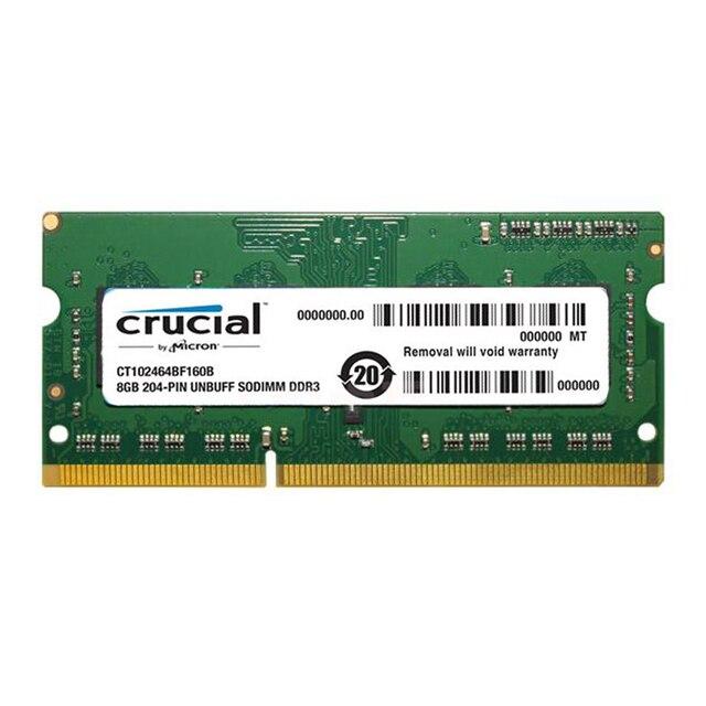 Crucial de Alta Qualidade Memória Ram Laptop 1.35 v DDR3L 1600 Mhz 8 GB 4 GB para Notebook Sodimm Memoria Compatível com DDR3 1066 1333 MHz