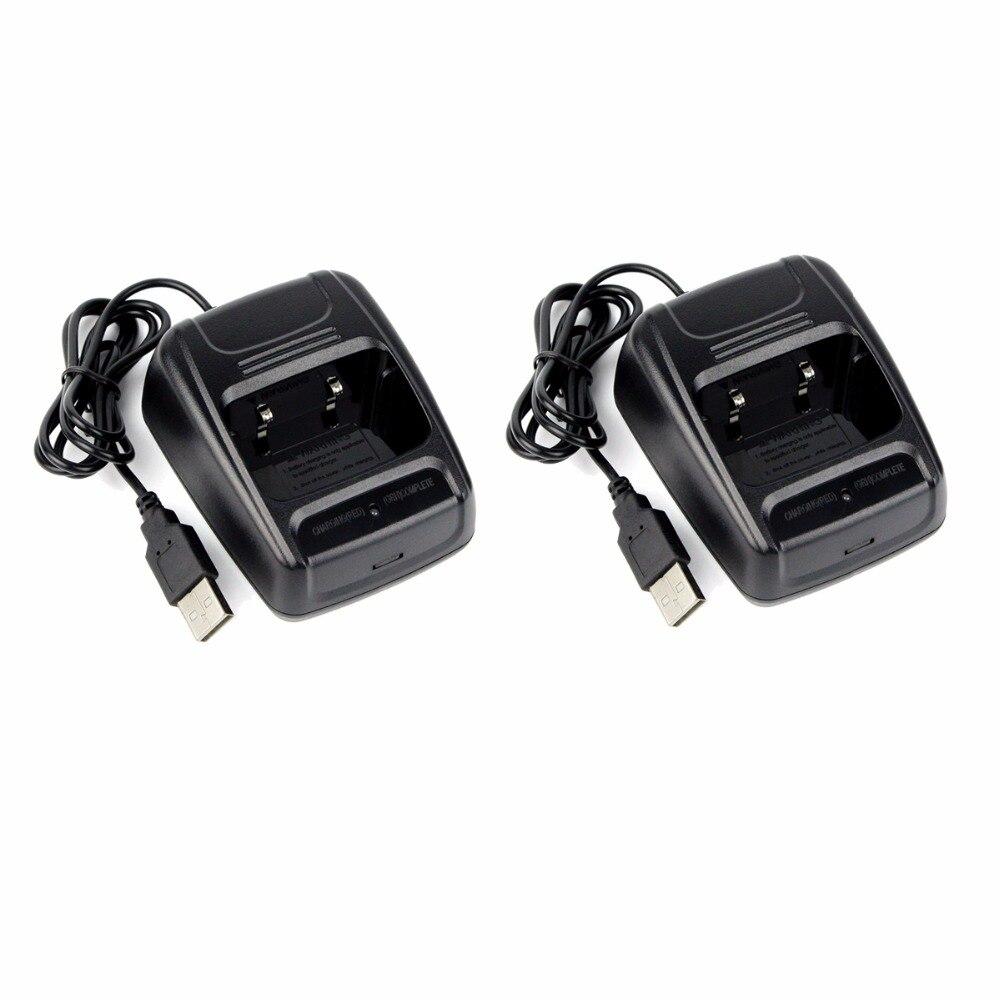 bilder für 2 stücke USB Ladegerät Li-Ion Ladegerät 100-240 V Für Retevis H777 Baofeng BF-666S 777 S Bf-888S Walkie Talkie J6337A