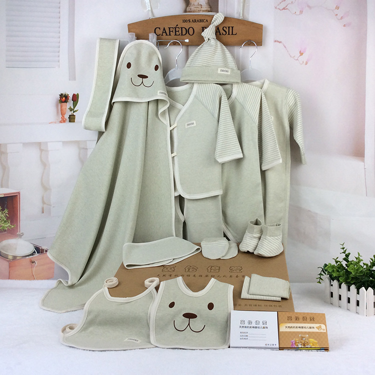 5fab0199862f 16 Pieces Organic Cotton New Born Baby Cothing Set Gift Box 2105 Best Gift  Baby Boy Clothes Baby Girl Clothes On Sale