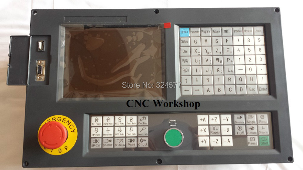 Inglés Panel Controlador CNC de 3 ejes para fresadora y perforadora servo paso a paso PLC de código G