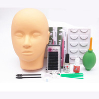 1 Set Portable Eyelashes Extension Kit for New Beginner Practicing Grafting Eyelash Extension Kit Practing tools