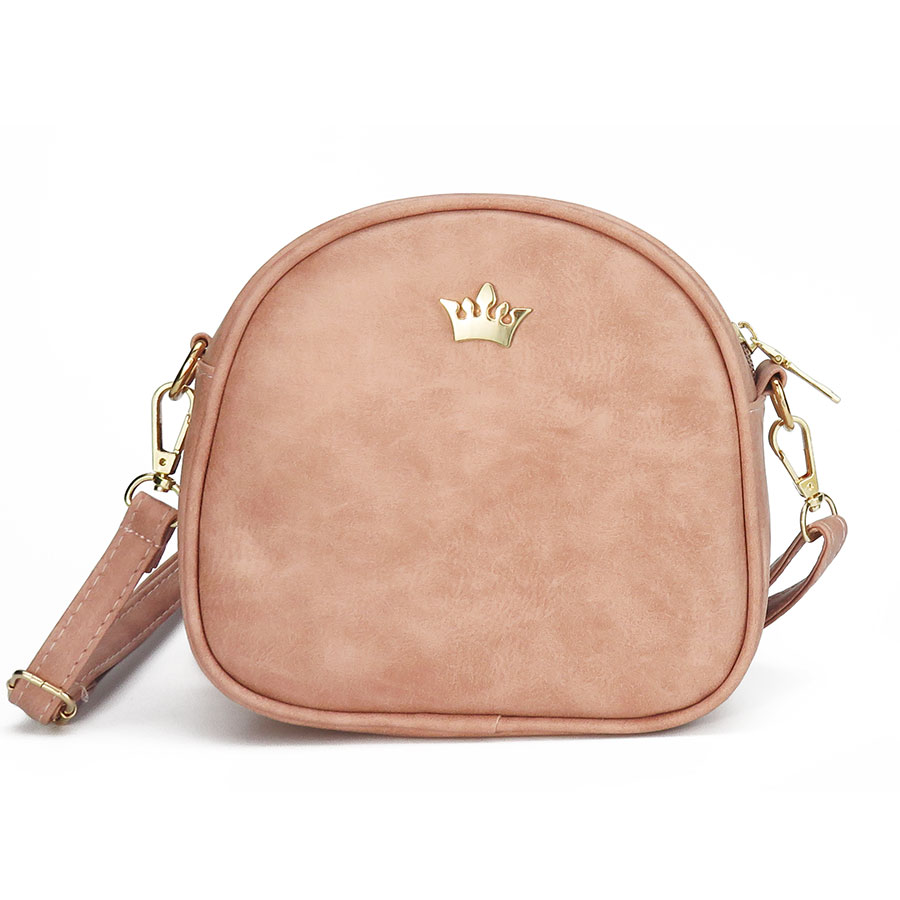 Moda mujeres messenger bags corona remache femenino del bolso crossbody de LA PU