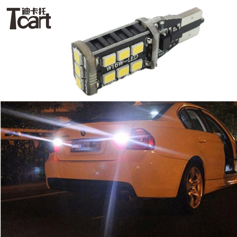 For Backup Reverse Tail Bulb BMW 5 Series E60 E61 F10 F11 F07 Mini Cooper Etc Canbus Error Free T15 W16W 921 Car LED <font><b>Lights</b></font>
