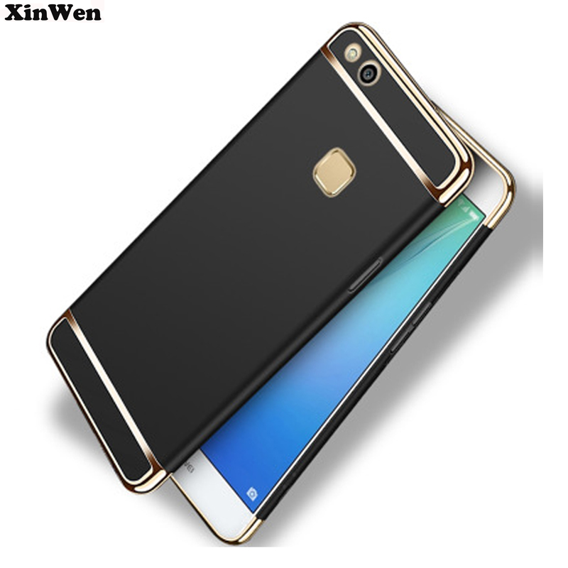 XinWen luxury Shockproof plastic black phone coque Cover Case For huawei p10 lite p10lite Protection Mobile accessories 3 in 1