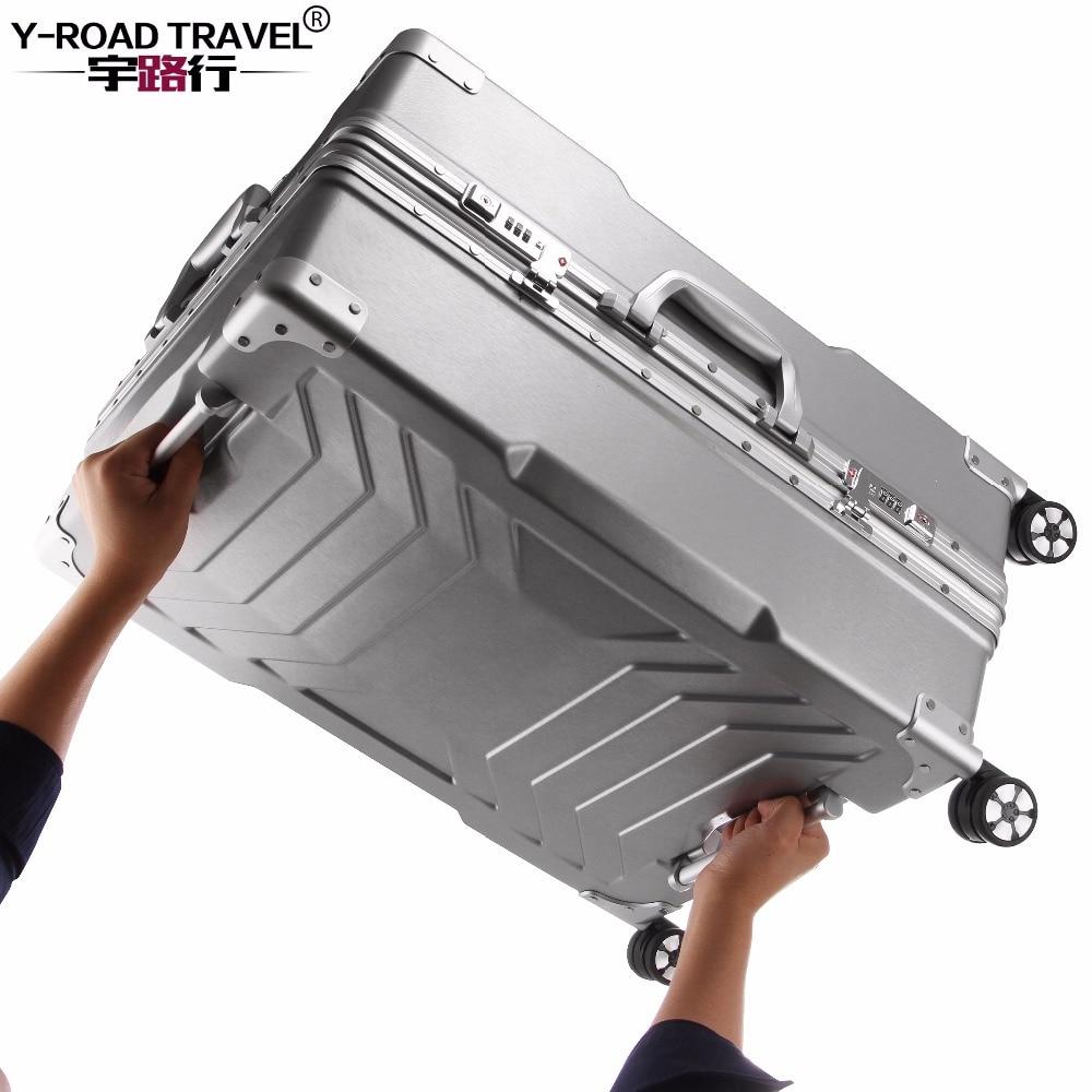 Y-ROAD DA VIAGGIO di Nuovo Disegno Trolley Valigia Bagagli PC Telaio In Alluminio Con LUCCHETTO TSA Rigidi, Trolley Valigia Con Ruote