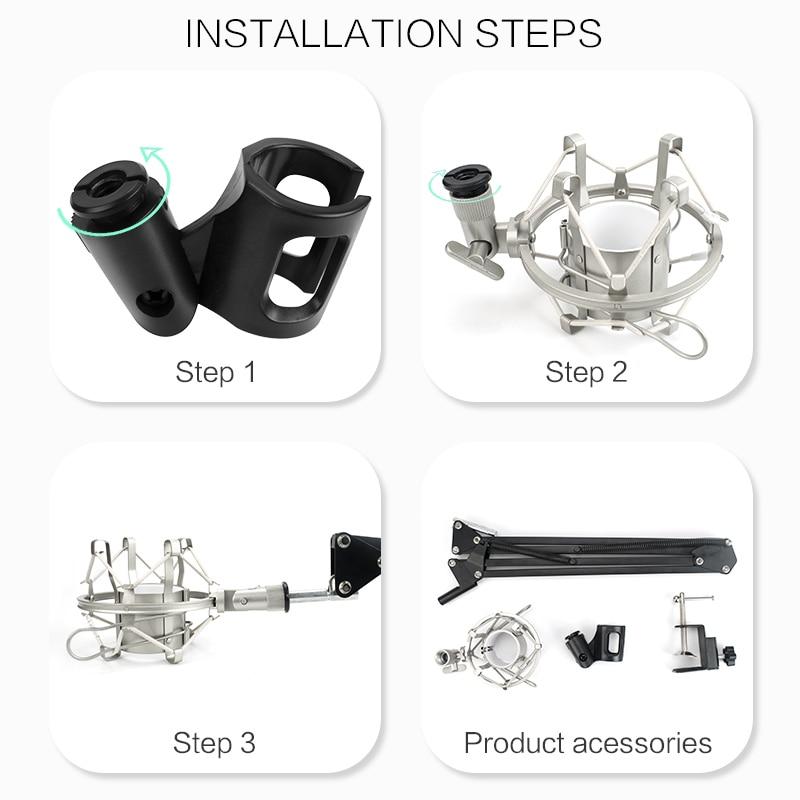 FELYBY Marque Professional bm 800 à condensateur KTV Microphone & - Audio et vidéo portable - Photo 6