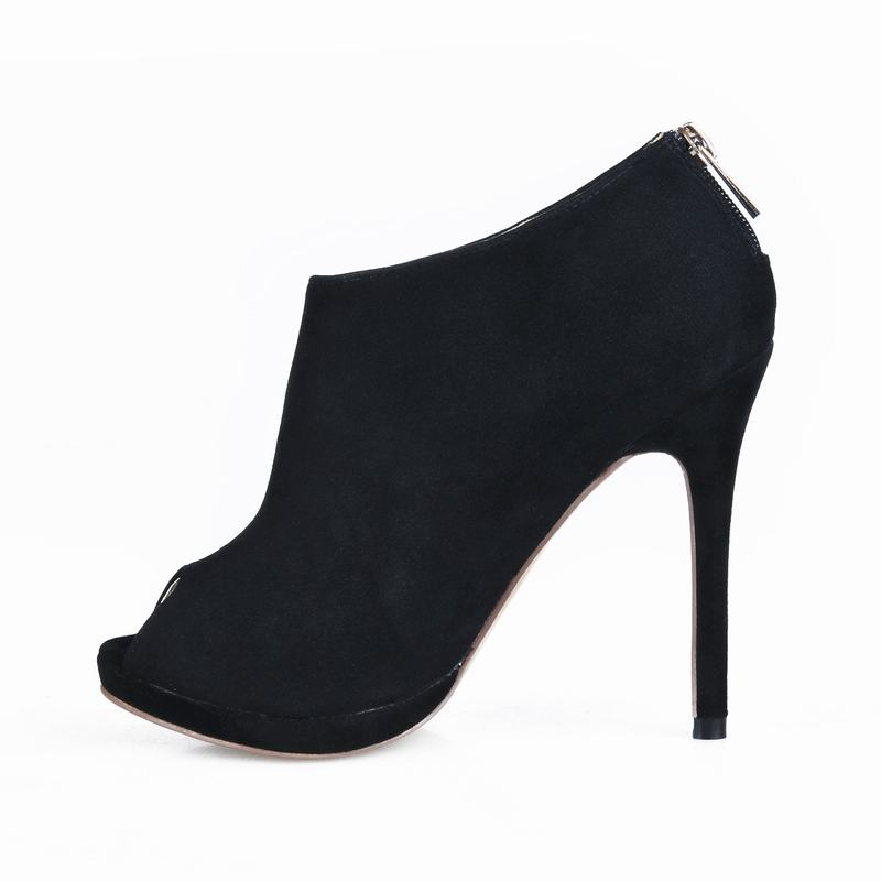 Tamaño Feminino black Tacon Tacones Bombas A Altos Peep Trabajo De B Sapato Serpentina Mujer Las Toe Zapatos Grande Black Tenis Mujeres Sexy Señoras U1ZUr