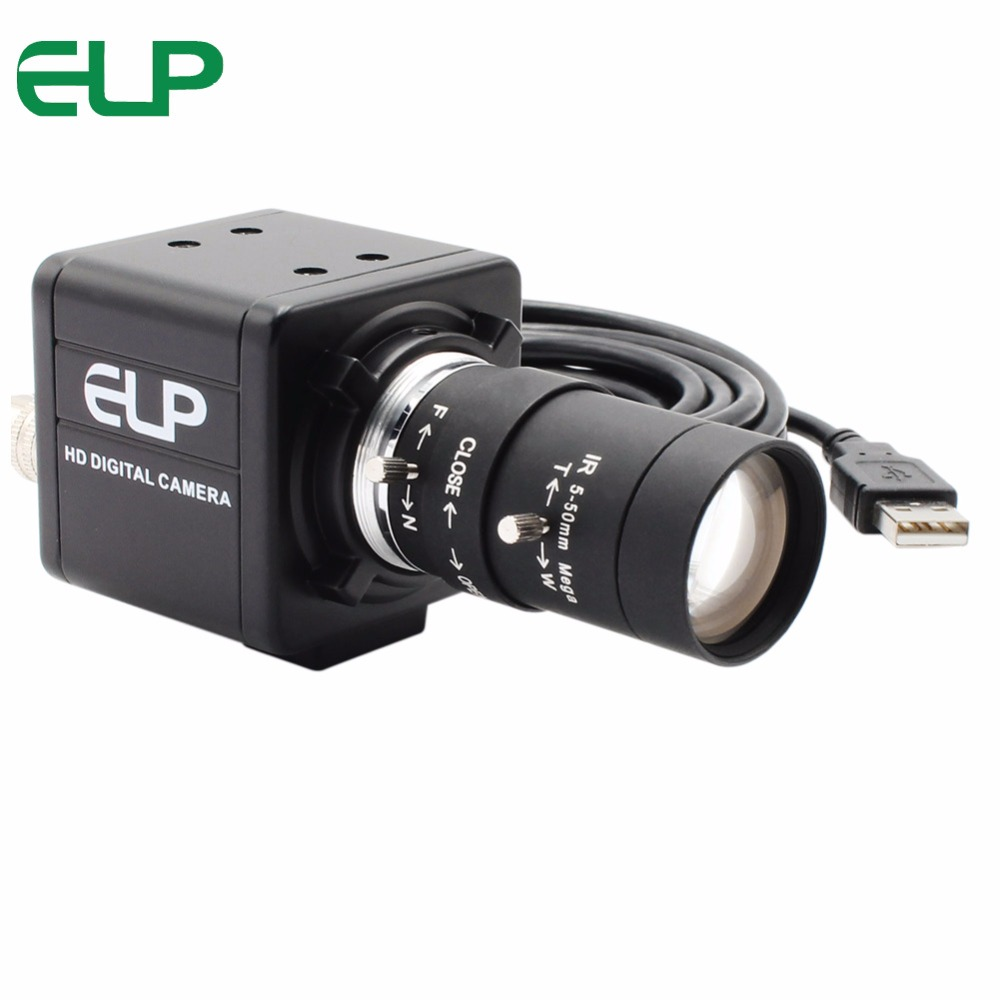 5 50mm varifocal lens 5 0Megapixel cctv video camera usb MJPEG 2592X1944 Aptina MI5100 camera module