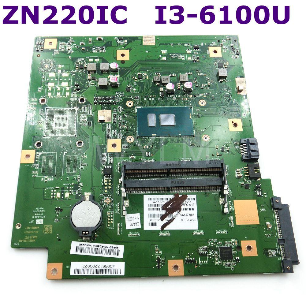 ZN220IC Avec I3-6100 CPU Tout-en-un carte mère Pour ASUS ZN220IC De Bureau carte mère 90PT01N0-R03000 100% Testé Livraison Gratuite