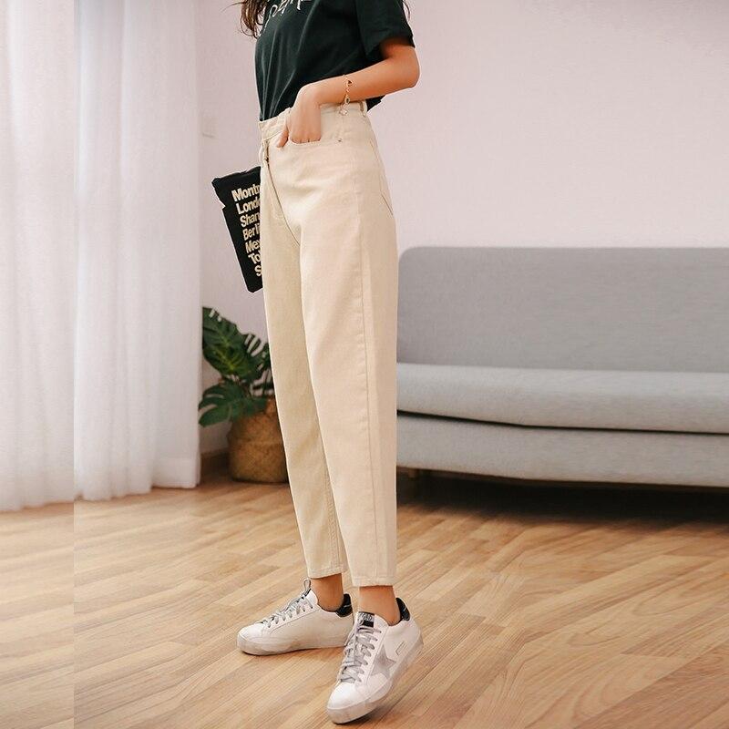 Niñas Vaqueros Banda Pengpious Denim Heram rice Para Cintura Suelta Nueva Dark Moda Irregular De Jeans Mujer Pantalones White Blue R71Rf