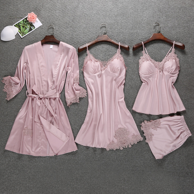 SET 4 PIECES SEXY WOMEN NIGHTWEAR (6 VARIAN)