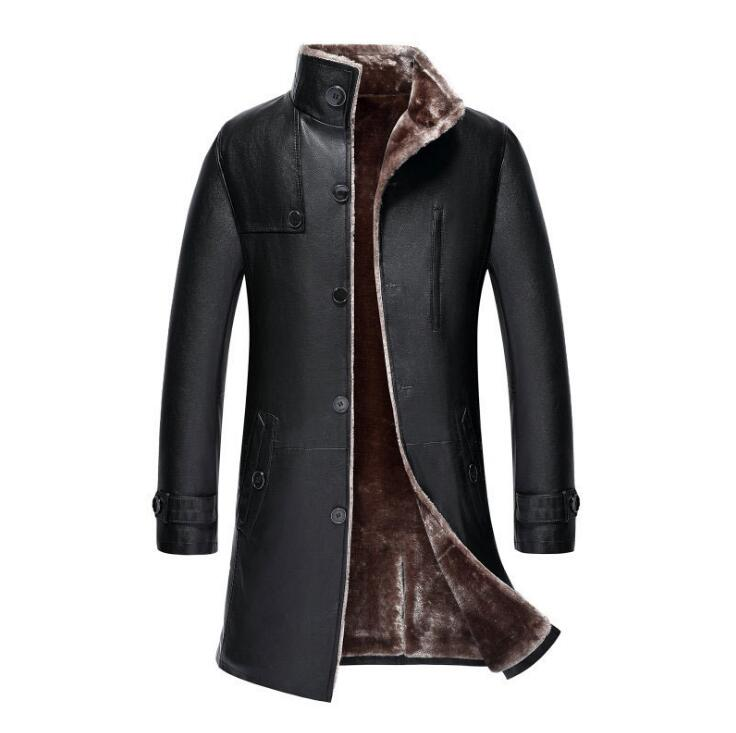 Hot New Plus Size Men's Business Casual Leather jacket Men Korean Winter Warm stand collar Outwear Mens Long Fur Coats M-5XL halter neck embroidery lace bralette