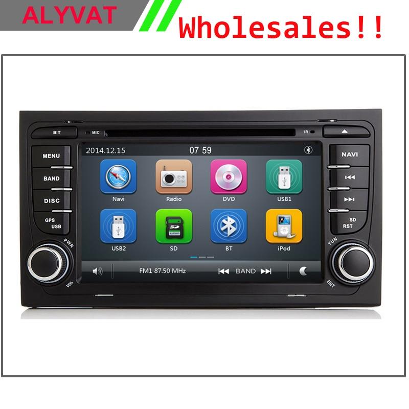imágenes para Mueca de dolor 6.0 Nuevo Reproductor de DVD Del Coche GPS Navi para Audi A4 2002 2003 2004 2005 2006 2007 S4 8E RS4 8F B7 B9 RNS-E Can Bus RDS Ipod USB SD