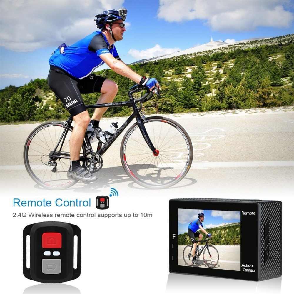 "AKASO Brave 4 kamera akcji ultra hd 4K WiFi 2.0 ""170D 20MP podwodny wodoodporny kask kamera kamera sportowa Selfie kij prezent"