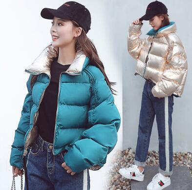 Top quality women Plus size Thickening shiny Women cotton padded   parka   casual Elegant lady jackets jaqueta feminin am082
