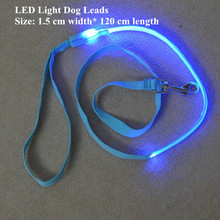 FD43  1.5cm width pet dog Leashes /w led light dog Pull strap  for small dogs free shipping