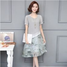 b3ac1a93904d0 Plaj Kadın Yaz Elbiseler 2019 Kore Vintage Çiçek Baskı Elbise Zarif Retro  Boy Ofis Tulum Şifon