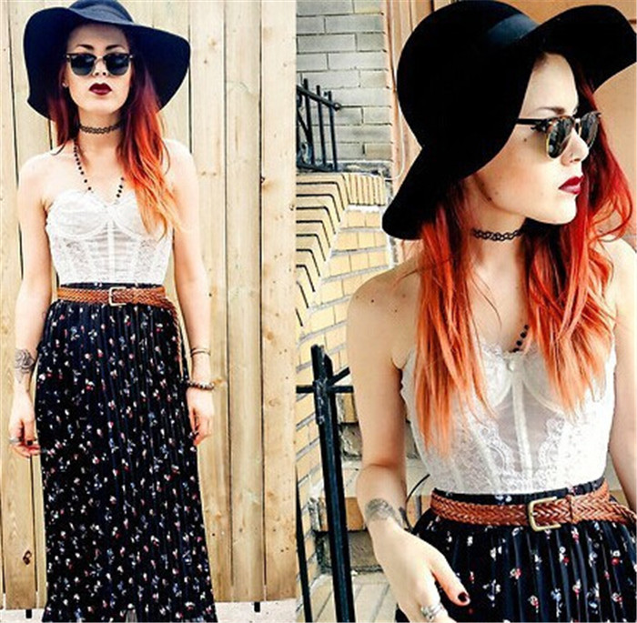 13 colors Hot Selling Vintage Stretch Tattoo Choker Necklace Gothic Punk Grunge Henna Elastic with Choker Necklaces (23)