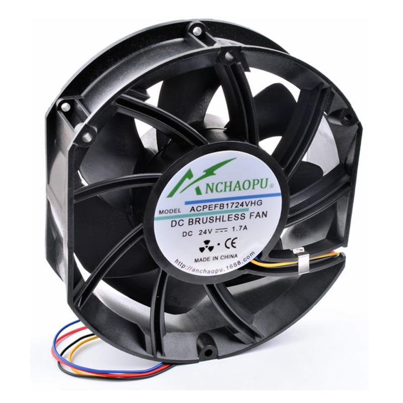 Brand New Original ANCHAOPU EFB1724VHG 17cm 17251 24V 1.70A 171x153x51mm Large Volume High Speed Inverter Cooling Fan