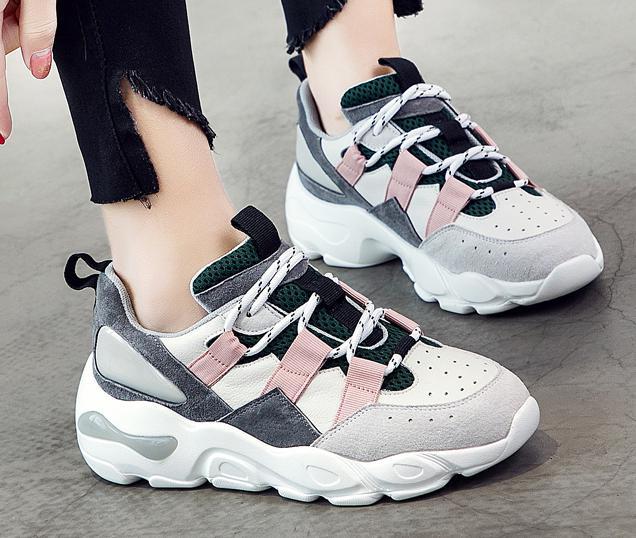 5c878eead09 Dropwow RASMEUP Mesh Chunky Sneakers Women 2019 Spring Designer ...