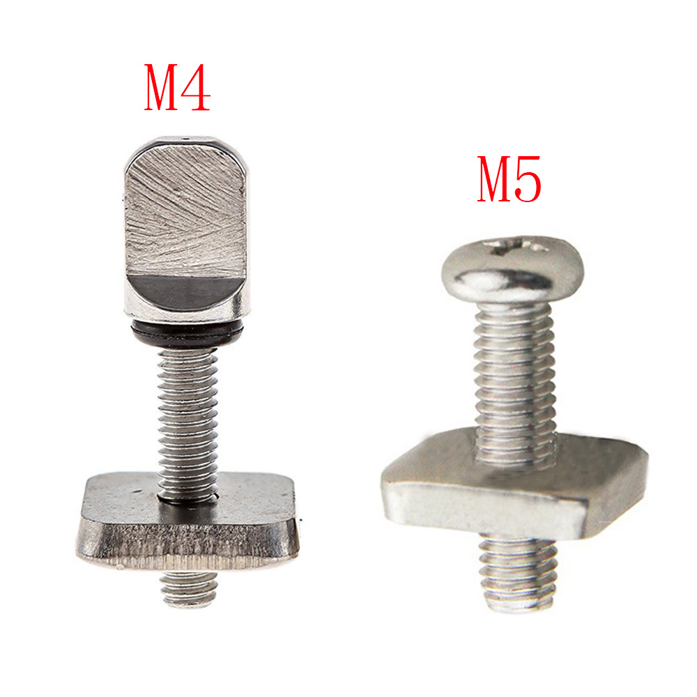 3sets M4 M5 Stainless Surf Fin Screws Plates Surfboard Longboard Screw Channel Sliding Fin Box Plate Smart Screw