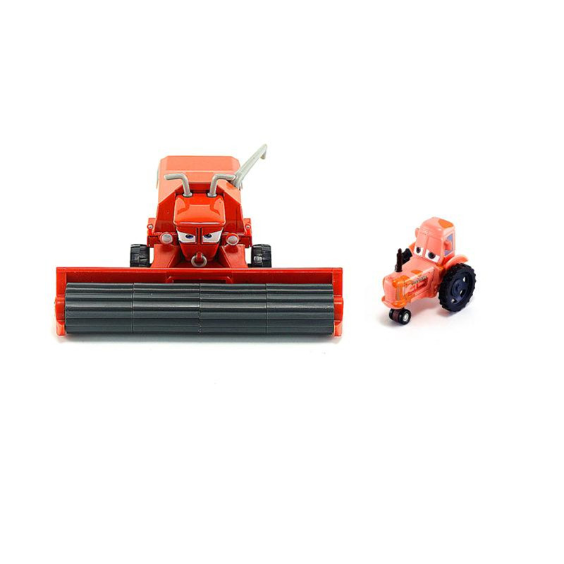 Disney Cars Rare Alloy Toy Car Harvester Frank Tractor Racing Collection Boy Toy Men Gift Cars 2