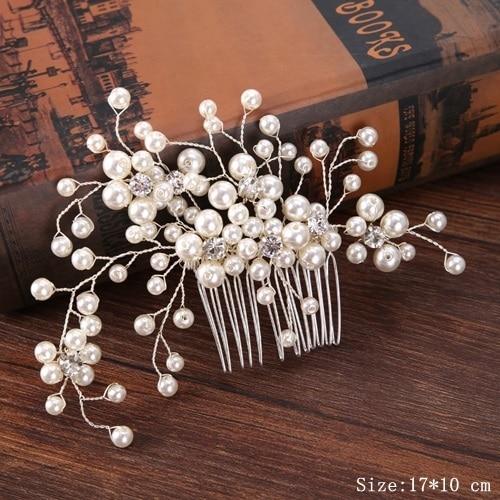 Bridal Pearl Hair Comb...