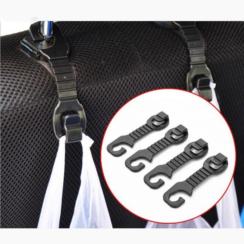 2pcs Per Set Car Back Seat Headrest Easy to Fix Hanger Holder Hooks For Bag Purse Cloth Grocer