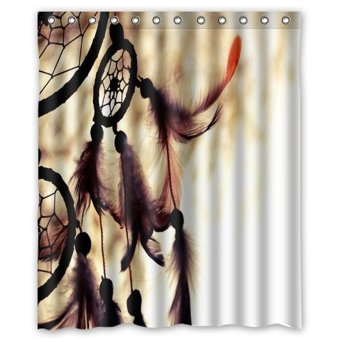 Eco Friendly Abstract Watercolor Vintage Paris Eiffel Tower Art Shower Curtain Waterproof Bathroom Liner With Hook