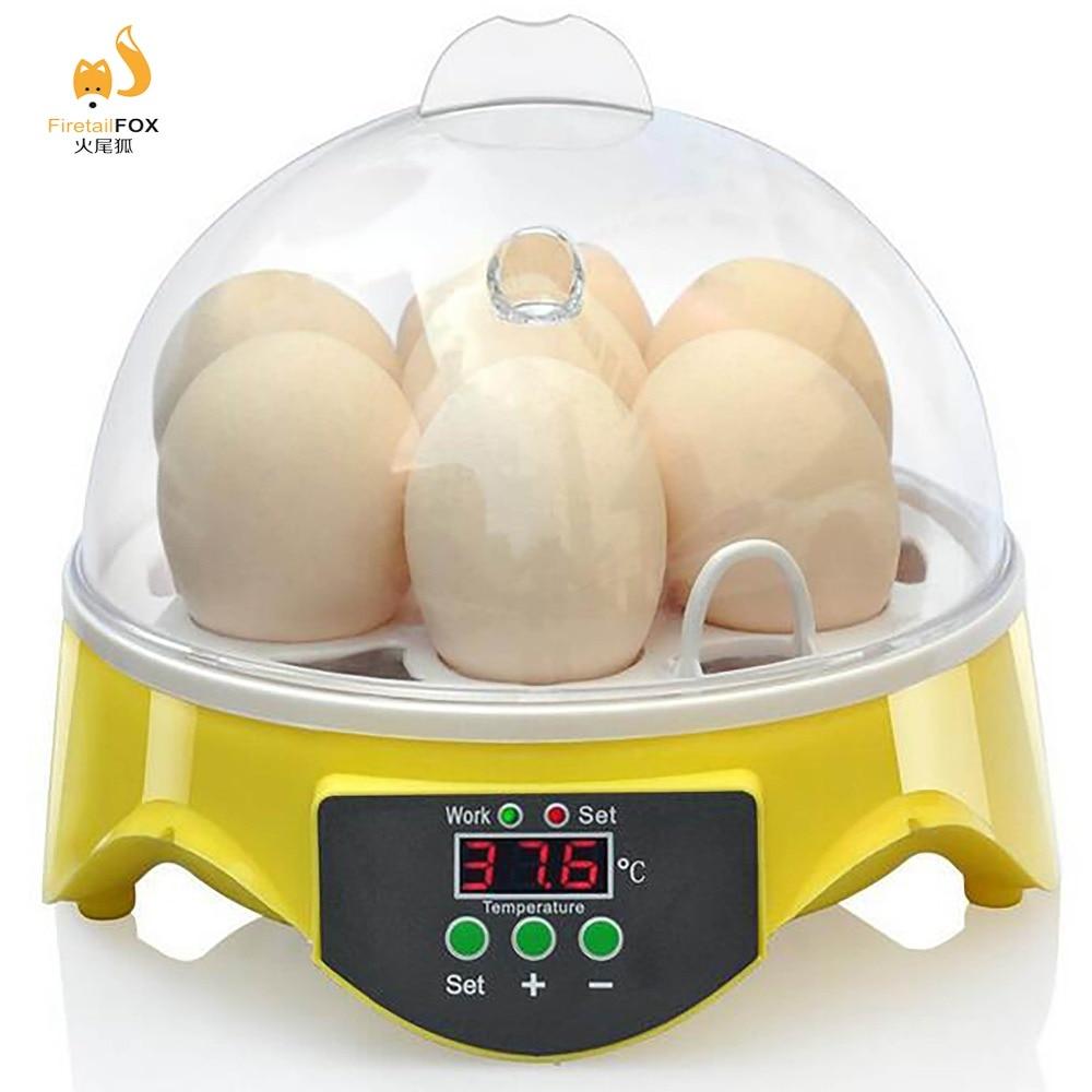 7 Eier halbautomatische Inkubator Huhn Ente Gänse Wachteln Taube Papagei Vögel Inkubator Elektronische Anzeige Thermostat-in Futter- und Wasserversorgung aus Heim und Garten bei  Gruppe 1