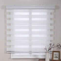 Stores zèbre à rouleau Double couche | Style Simple, personnalisé pour fenêtres