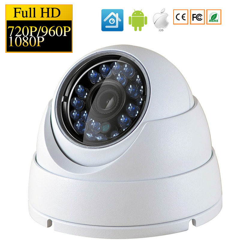720P/960P/1080P HD IP Camera Indoor Dome Security Camera FULL HD Surveillance CCTV Camera IR Cut Motion Detect kingcam wide angle ip camera indoor dome camera security 1080p full hd ip camera ir cut filter 30 ir led onvif motion detect rts