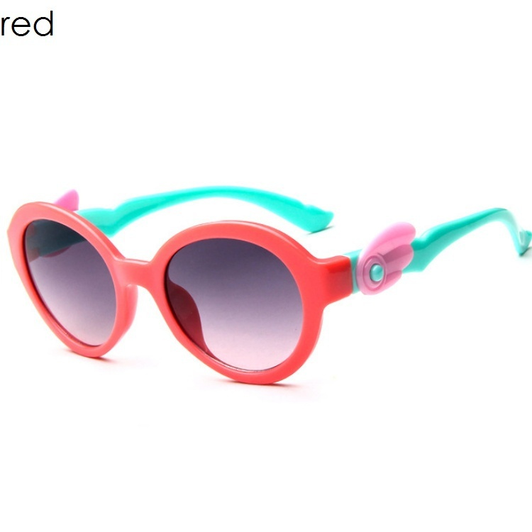 Fashion Kids Sunglasses Children Princess Cute Baby Glasses High Quality Boys Gilrs Wing HD Lens Children Cute Kid Sunglasses