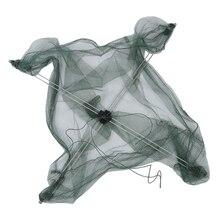 SODIAL(R) 76 x 76 cm Umbrella Design Crab Trap Cast Lures Fishing Dip Net
