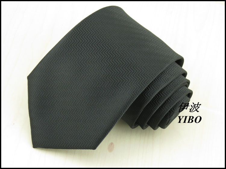 The men business tie the black wavy lines design elegant classic necktie 8 cm wide Has a connotation grace man accessories