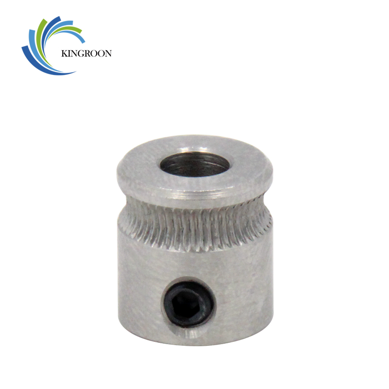 KINGROON 1PC 3D Printer MK7 Stainless Steel Extrusion Gear For 1.75mm Filament Extruder Feed Gear Wheel For 3D Printer Part 2 die steel feeding extrusion wheel for 3d printer black
