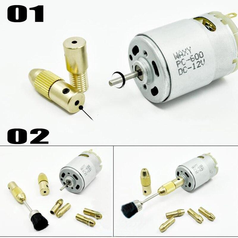mini mandrino trapano senza chiave adattatore micro trapano pinze - Punta da trapano - Fotografia 4