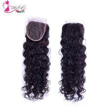"Cheap 6A Mongolian Curly Hair Lace Closure Free Part Virgin Human Closure Afro Curly Hair Closure 8""-20"" Available"
