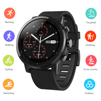Original Huami Amazfit 2 Smart Watch Running Watch GPS Xiaomi Chip Alipay Bluetooth 4.2 Bidirectional Anti Lost For IOS/ Android