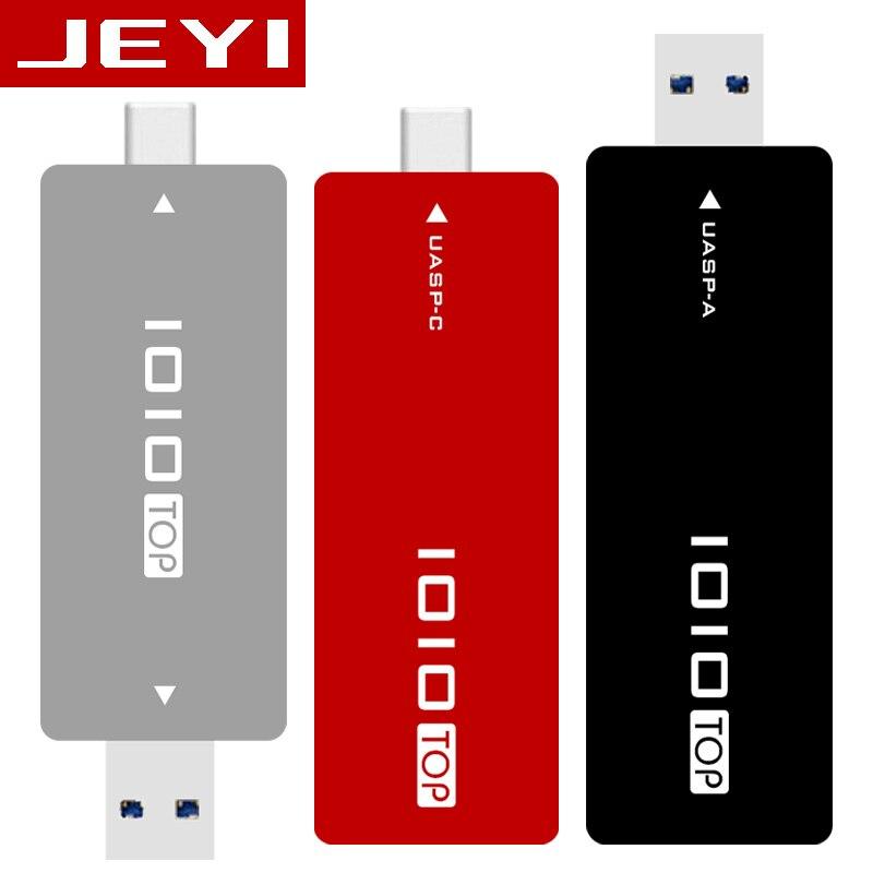 JEYI IOIO TYPE-C USB3.1 USB3.0 M.2 NGFF SSD Mobile Drive VIA VLI716 Support TRIM SATA3 6Gbps UASP Aluminum SSD HDD Encl