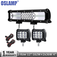 CREE 5D 120W 12inch CREE Dual Row Straight LED Light Bar Offroad Led Work Driving Light