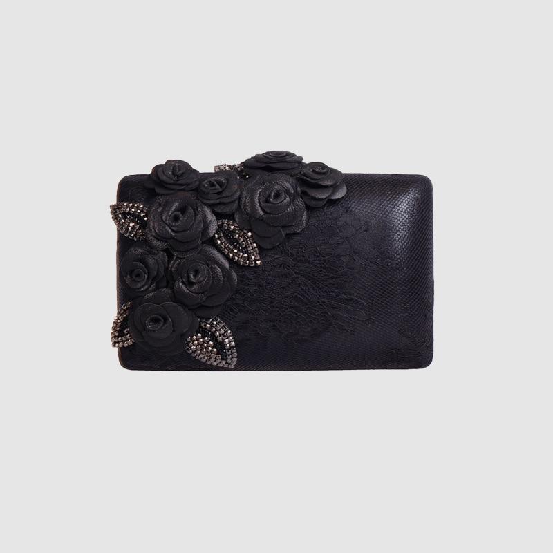 LOCAL FOCAL black fashion exquisite handmade lace handbag local focal fashionable handmade with delicate handbag