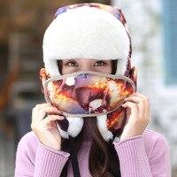 Novas mulheres estilo coreano rabo de cavalo pesca caps chapéus dos desenhos animados de animais impressão headwear inverno quente camping caminhadas pesca caps chapéus